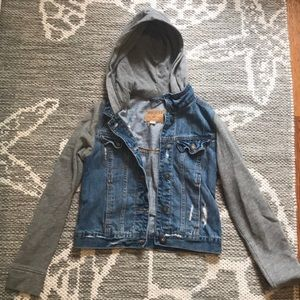 Hooded jean jacket from Holister